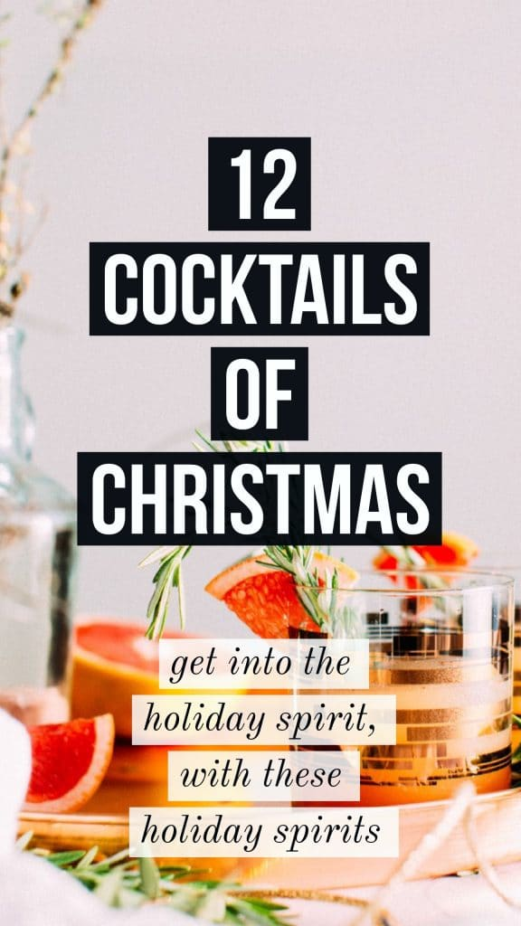 12 cocktails of christmas