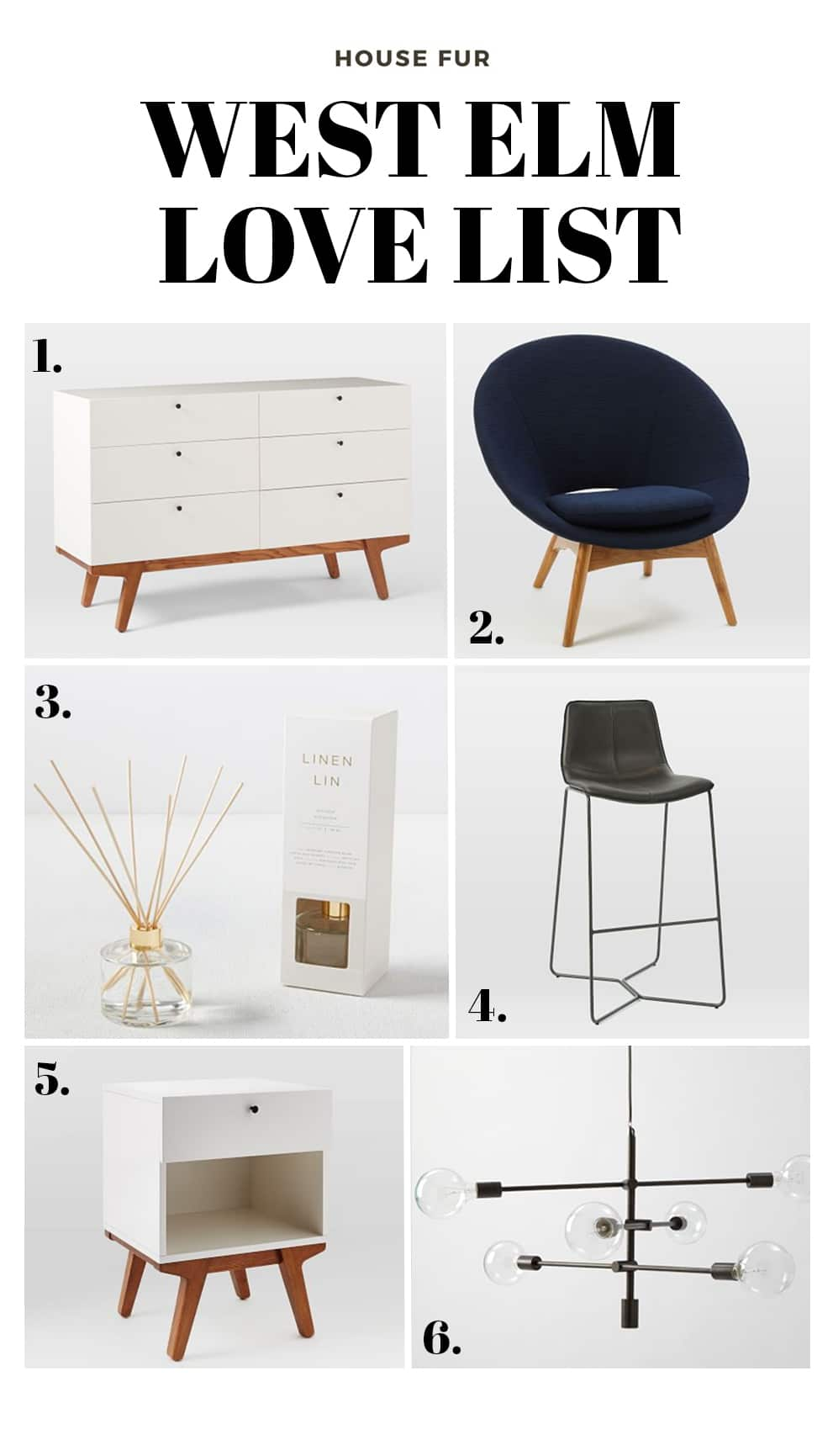 west elm love list for things I love at west elm