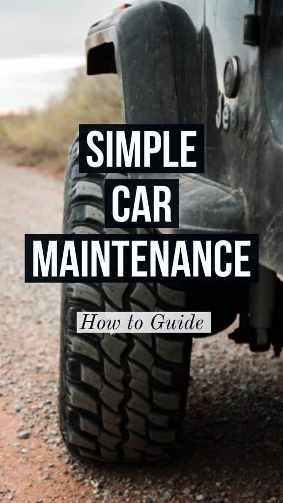 simple car maintenance guide