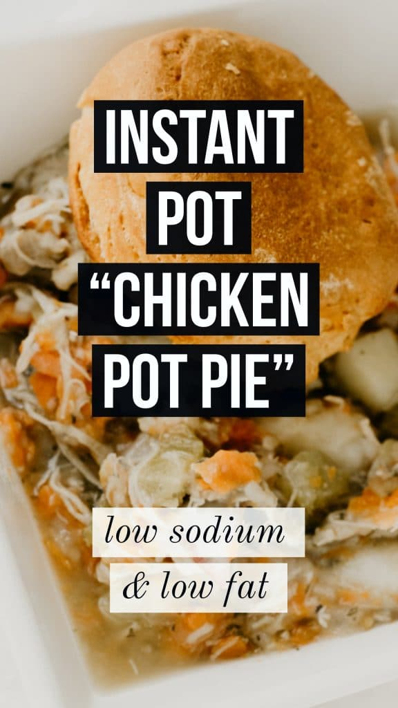 healthy instant pot chicken pot pie recipe