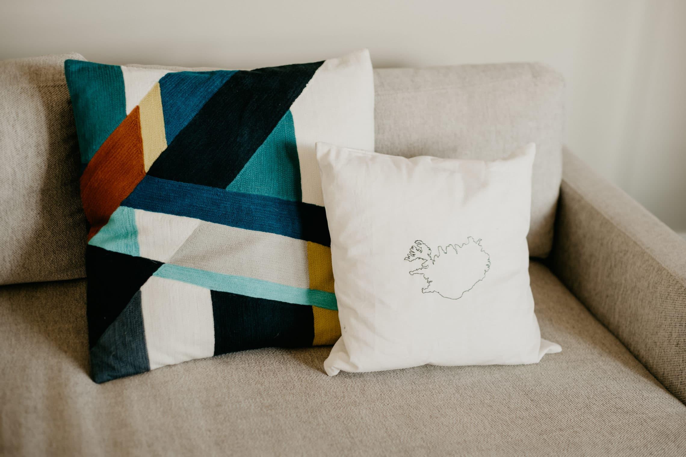west elm modern pillow geometric