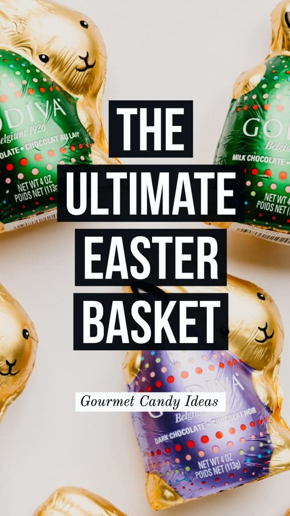 Godiva chocolate bunnies for gourmet easter basket