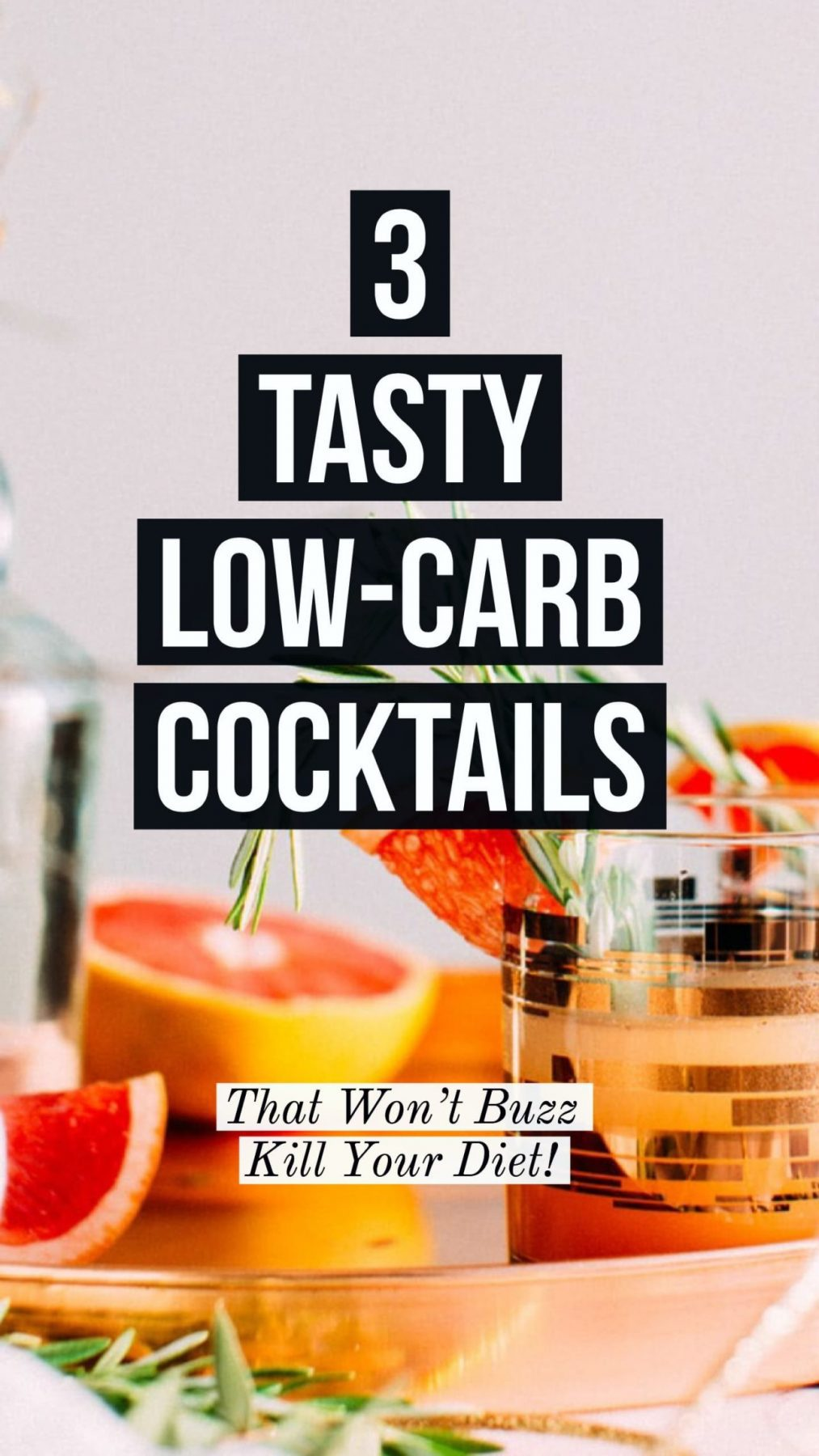 real balanced low carb cocktails