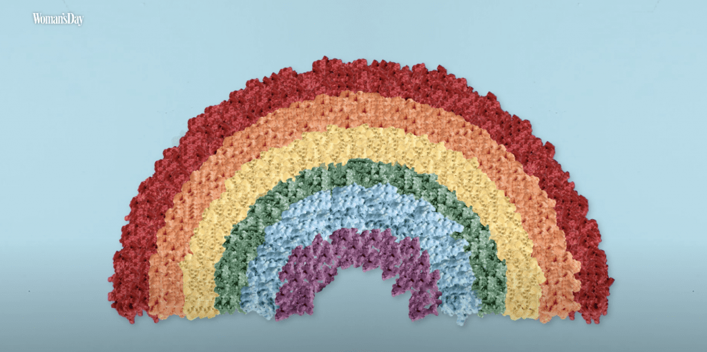 woman's day rainbow popcorn