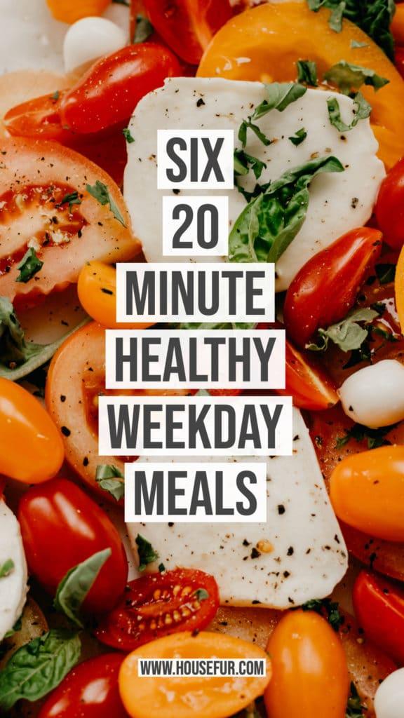 six twenty minute easy weekday meals