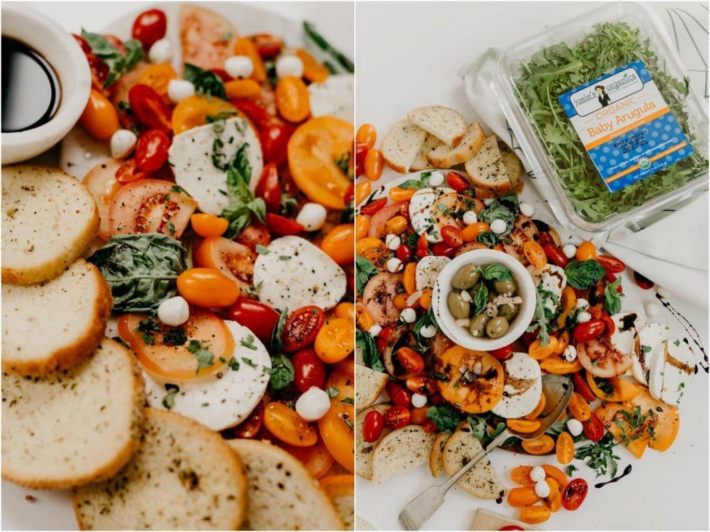 caprese salad recipe with arugula