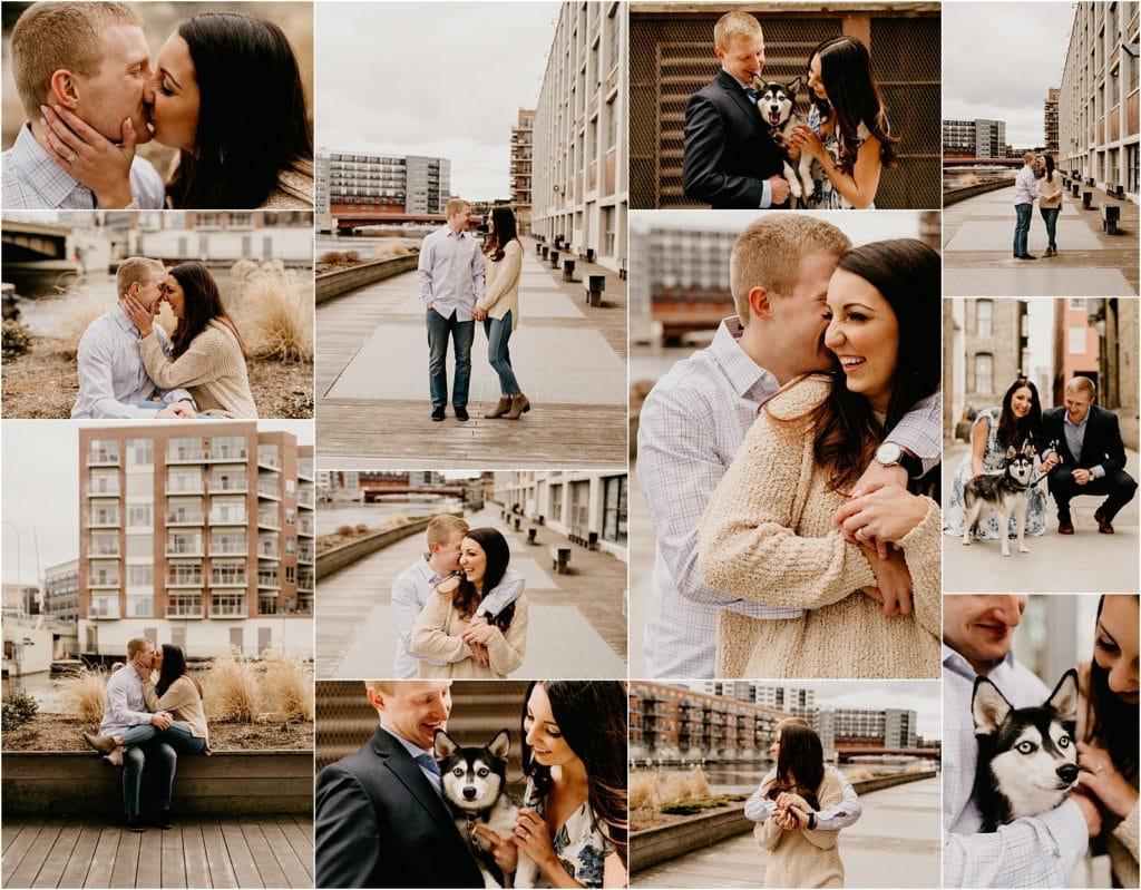 Wisconsin wedding photographer engagement