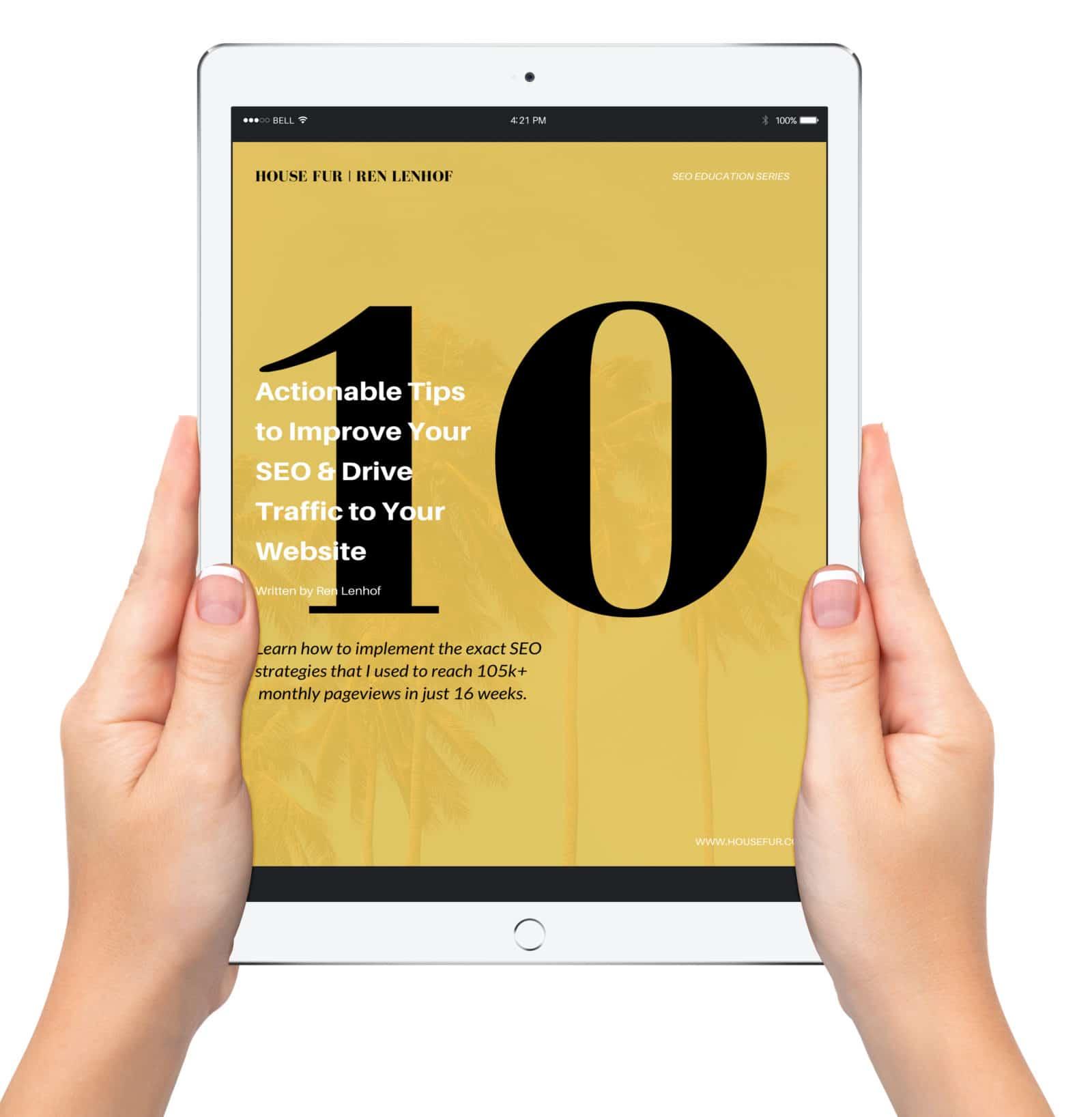 SEO ebook by Ren Lenhof for more website traffic