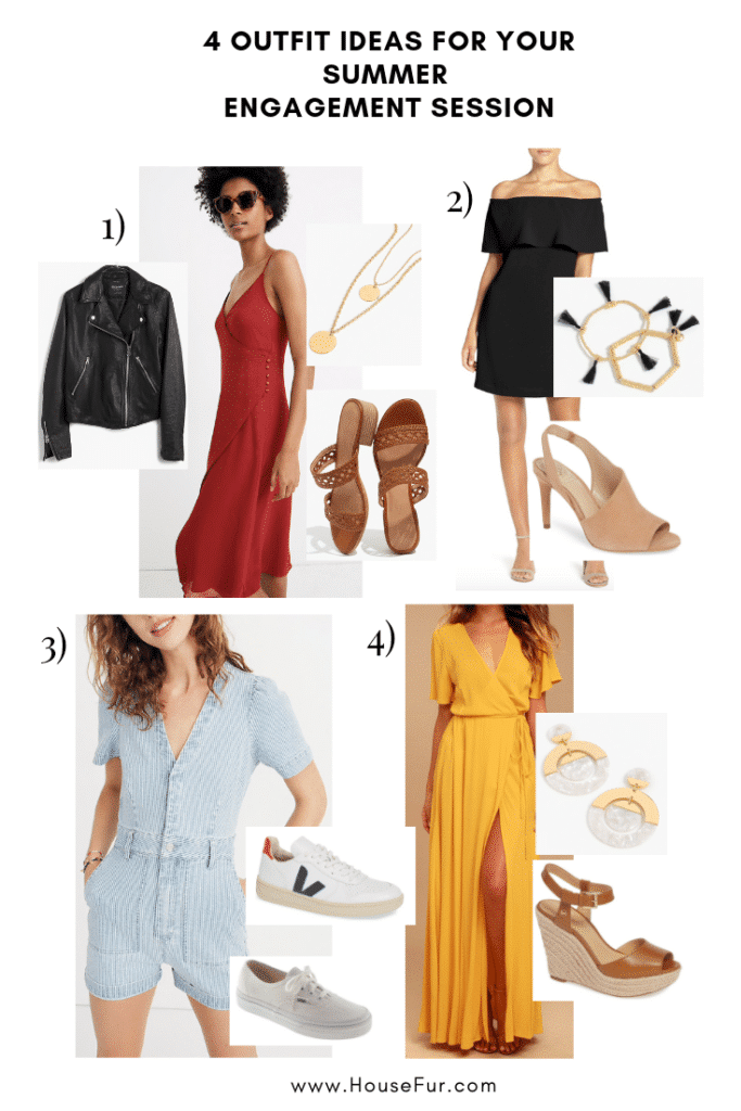 summer engagement session outfit ideas