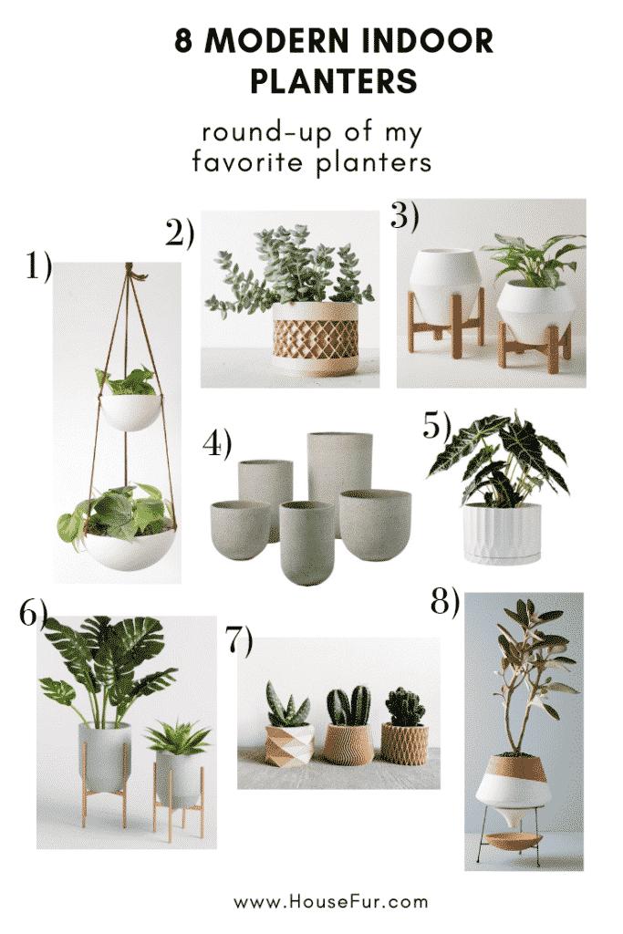 10 modern houseplant planters