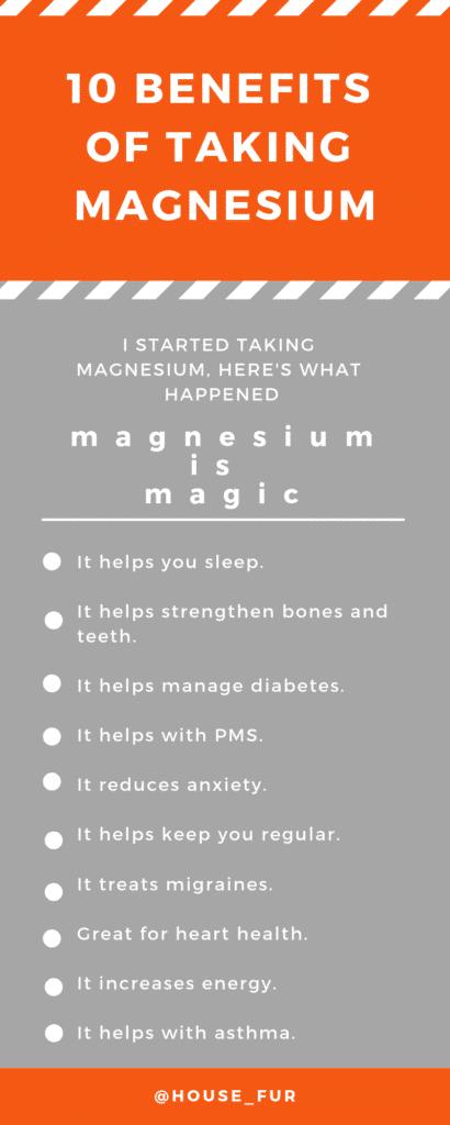 10 benefits of taking magnesium