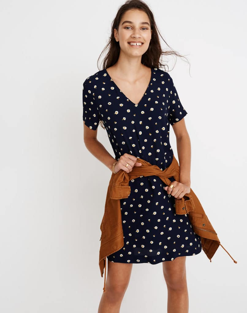 button back easy Madewell dress