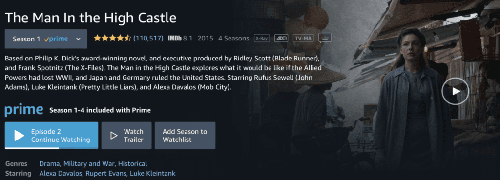 man in the high castle amazon