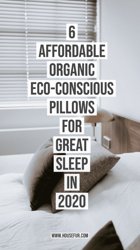 6 Affordable, Organic, Eco-Conscious Pillows for Great Sleep in 2020