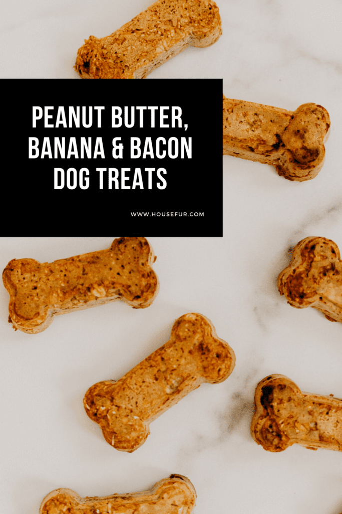 Peanut Butter, Banana & Bacon Dog Treats