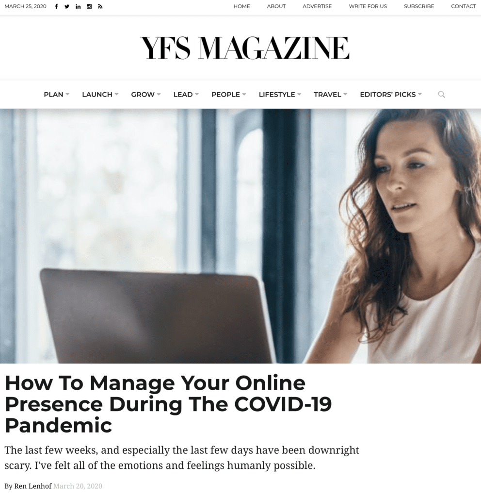 How To Manage Your Online Presence During The COVID-19 Pandemic