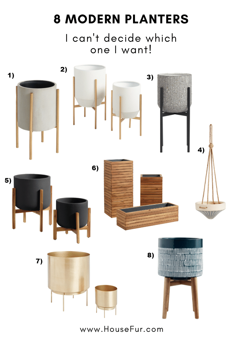 8 modern planters from world market