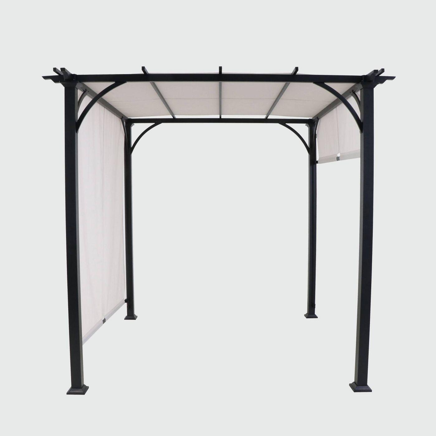 metal outdoor adjustable shade gazebo