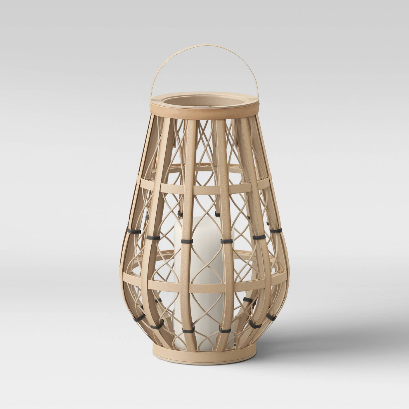 Woven Ogee Outdoor Lantern Natural - Opalhouse