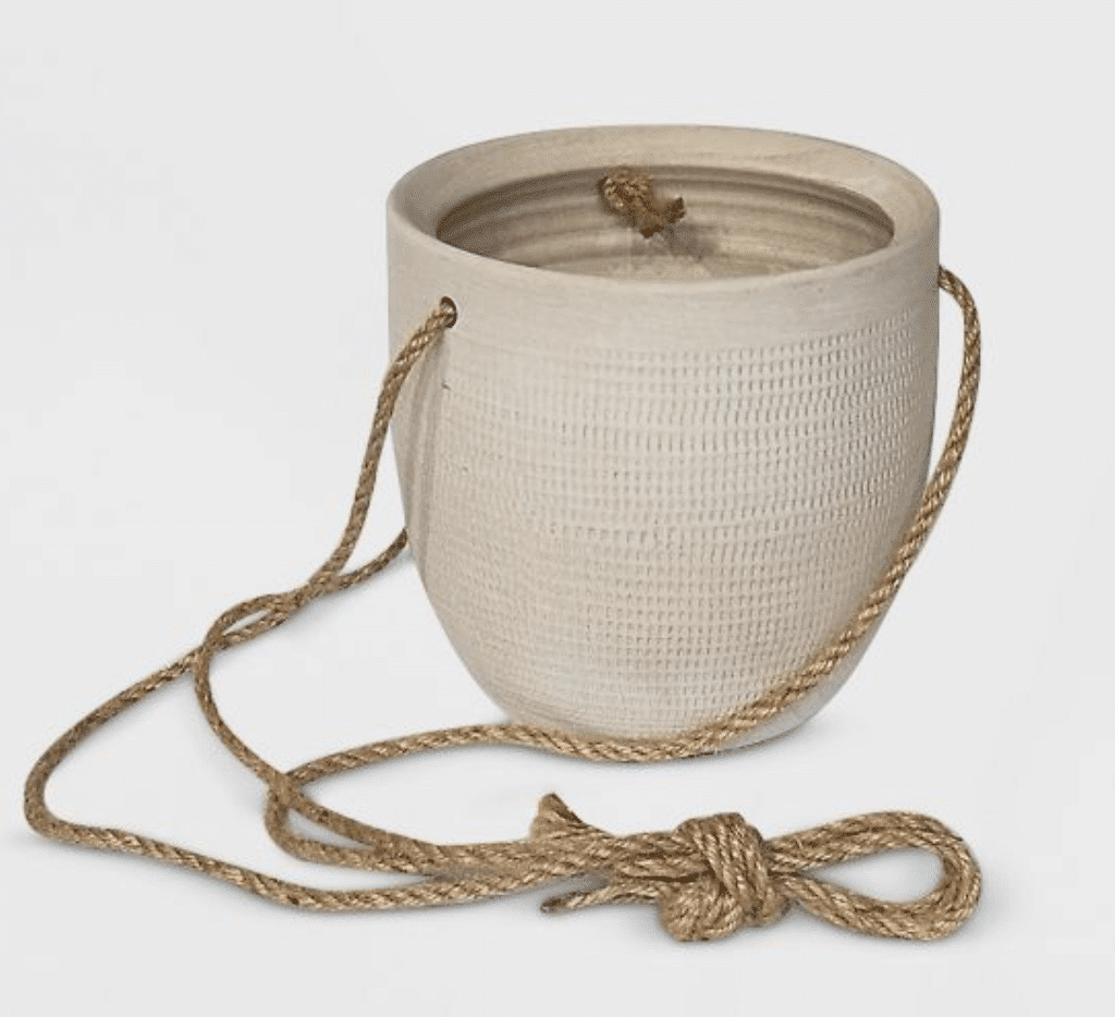 textured ceramic hanging planter