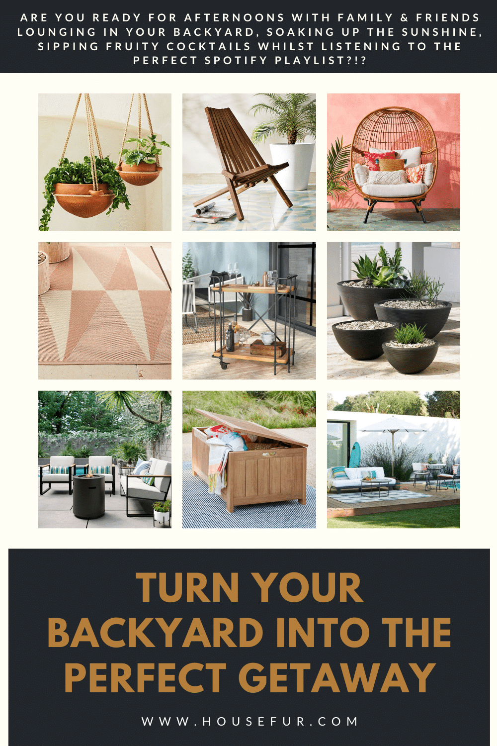 turn your backyard into the perfect getaway with these outdoor furniture picks