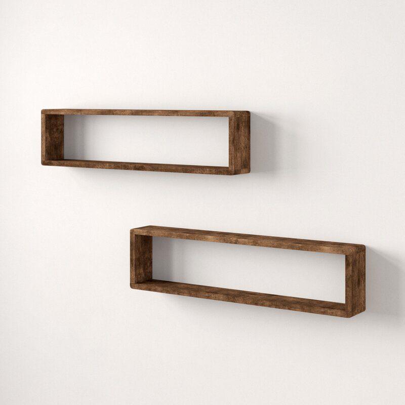 Abbott Stackable Long Box 2 Piece Wall Shelf
