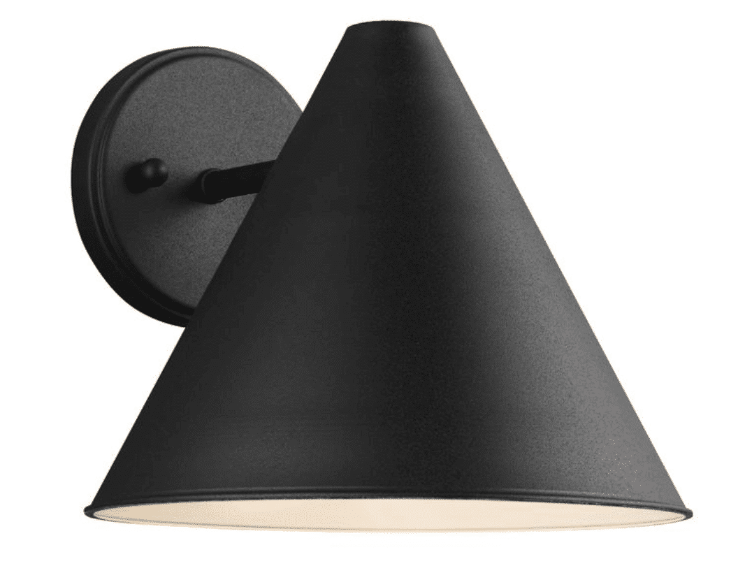 Black Outdoor 8.5 in. Wall Lantern Sconce