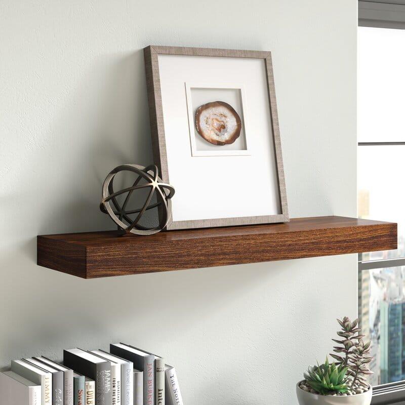 floating wooden shelf
