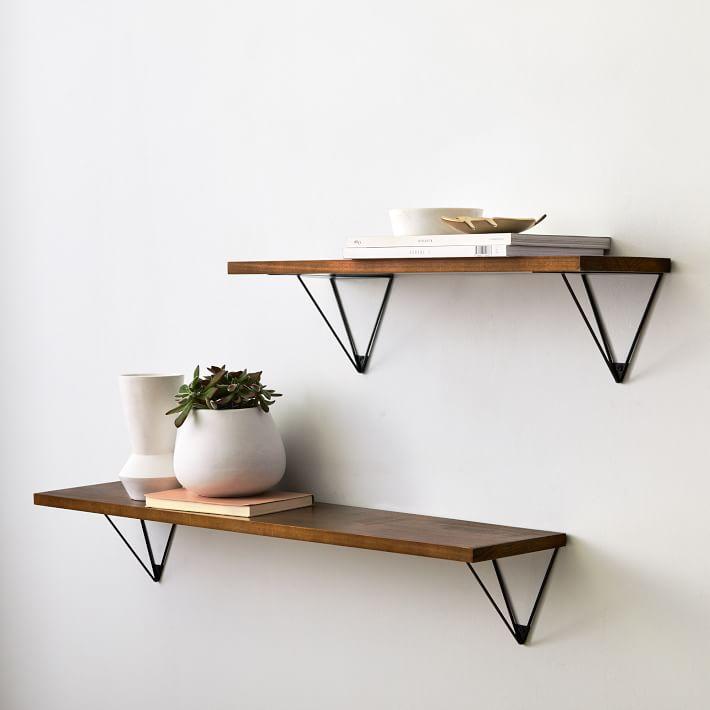 west elm wood floating shelves