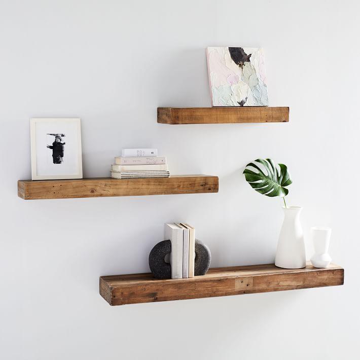 reclaimed wood open shelves