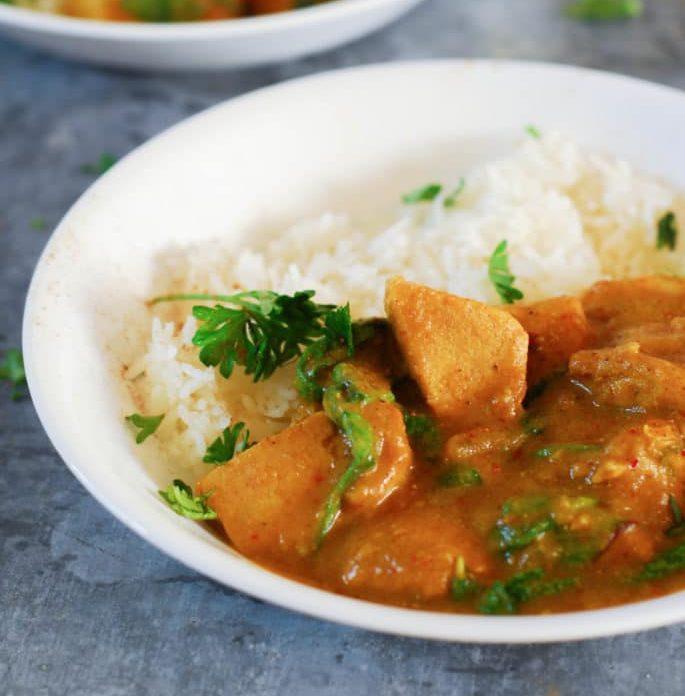 pumpkin spice chicken curry