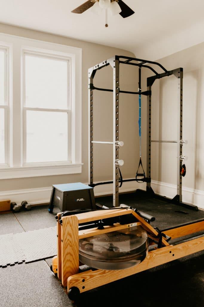 home gym rowing machine