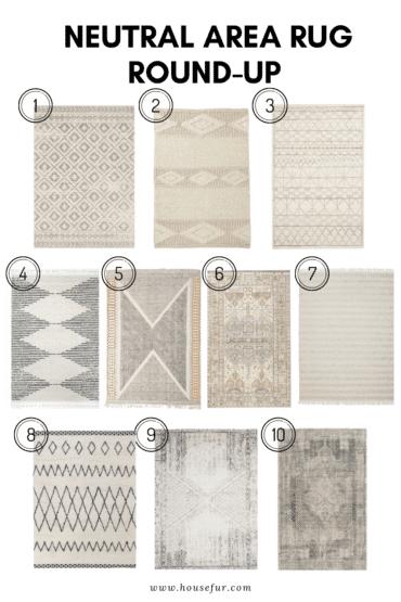 neutral area rug round-up