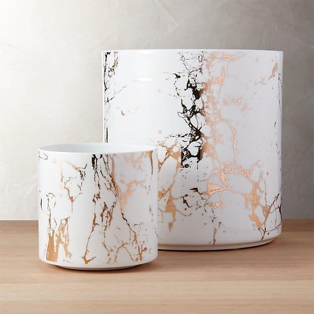 marble modern planter