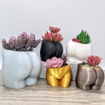 woman butt planter