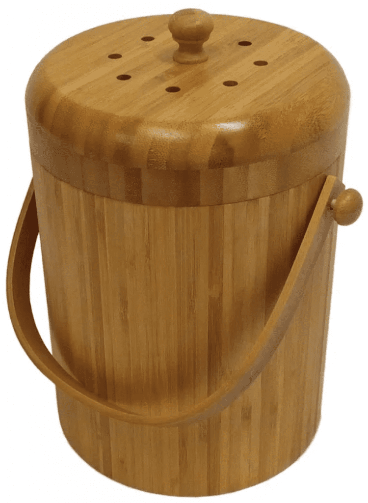 bamboo compost container