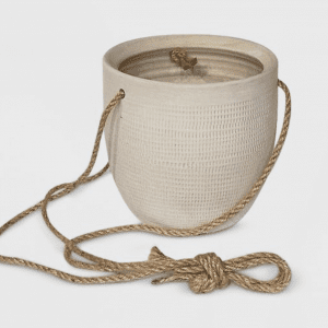 Textured Ceramic Hanging Planter White - Project 62