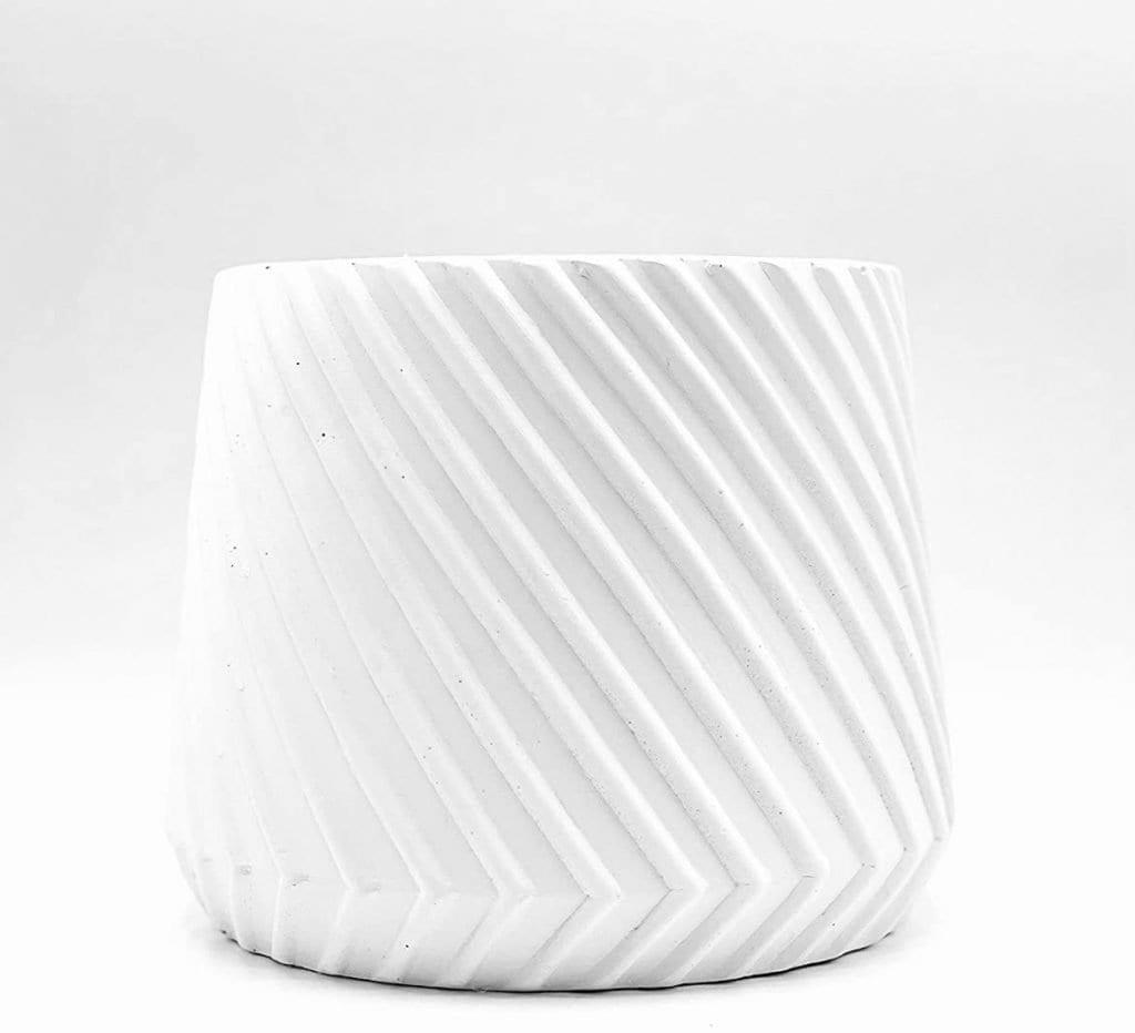 modern white planter