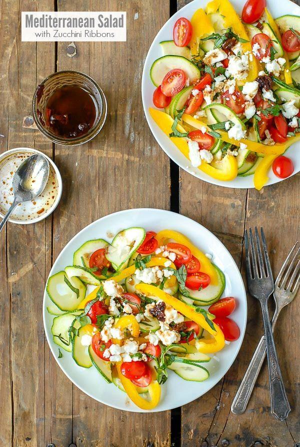 Mediterranean Salad with zucchini