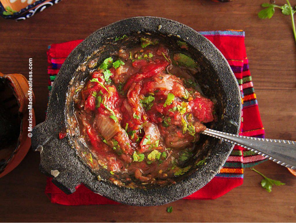 vegan Mexican salsa