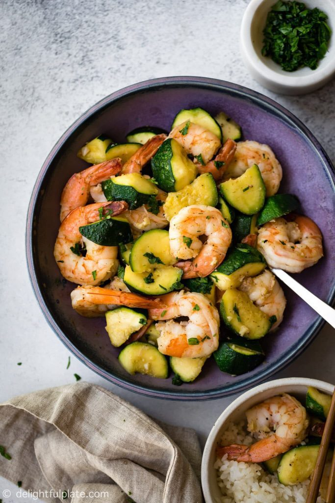 sautéed shrimp with zucchini
