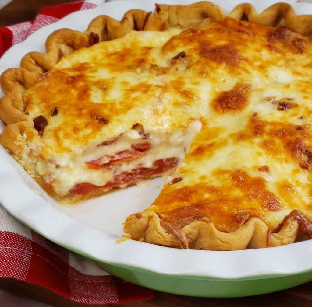 tomato bacon pie