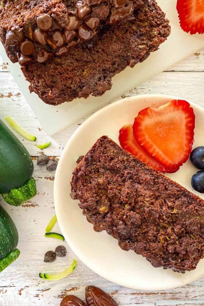 HEALTHY CHOCOLATE ZUCCHINI BREAD [OIL FREE]