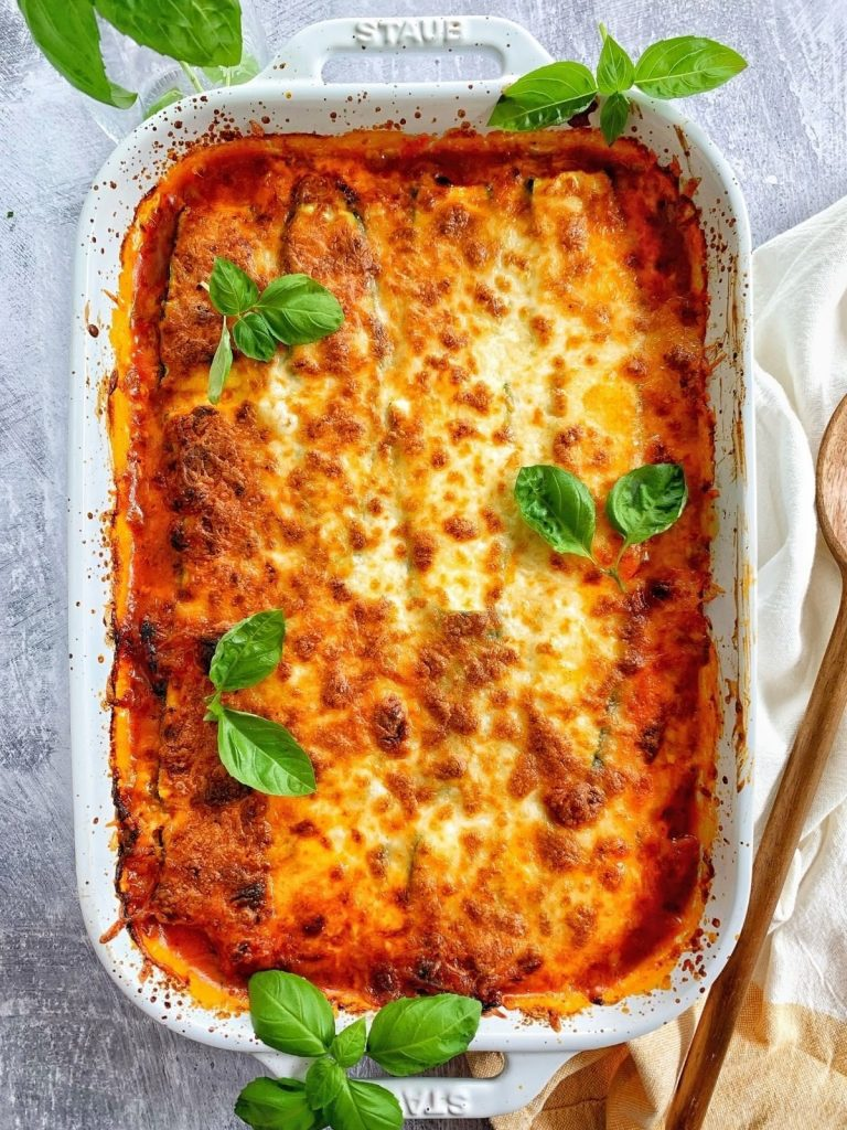 zucchini lasagna with meat sauce