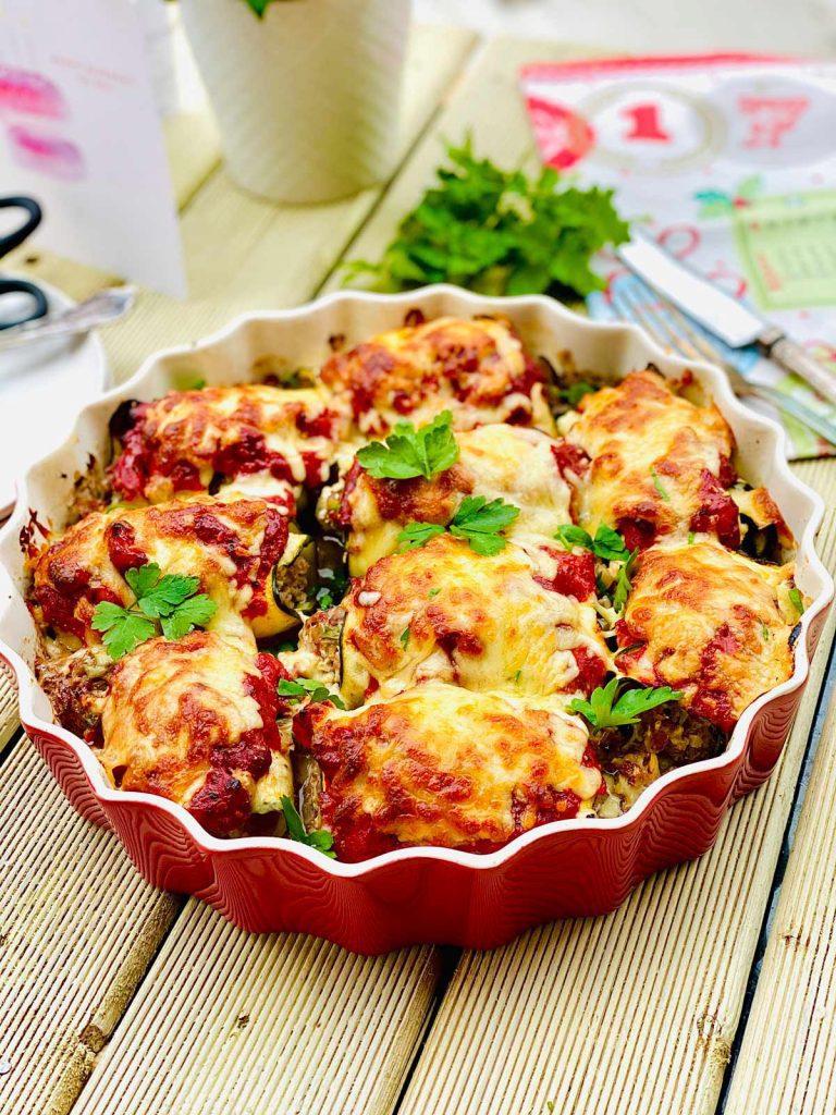 beef zucchini enchiladas