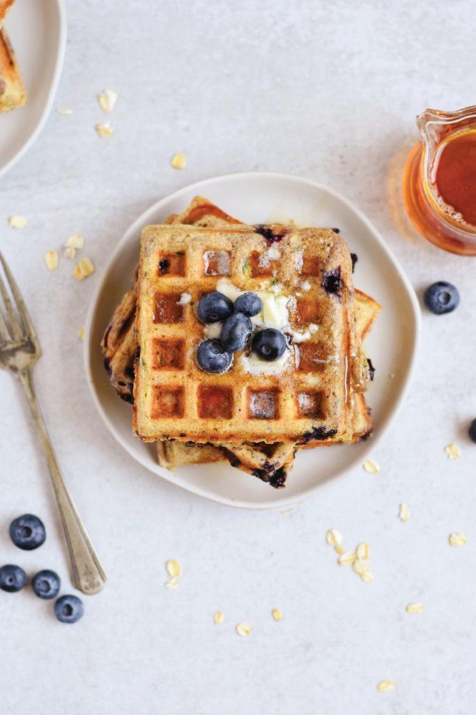 blueberry Zucchini waffles