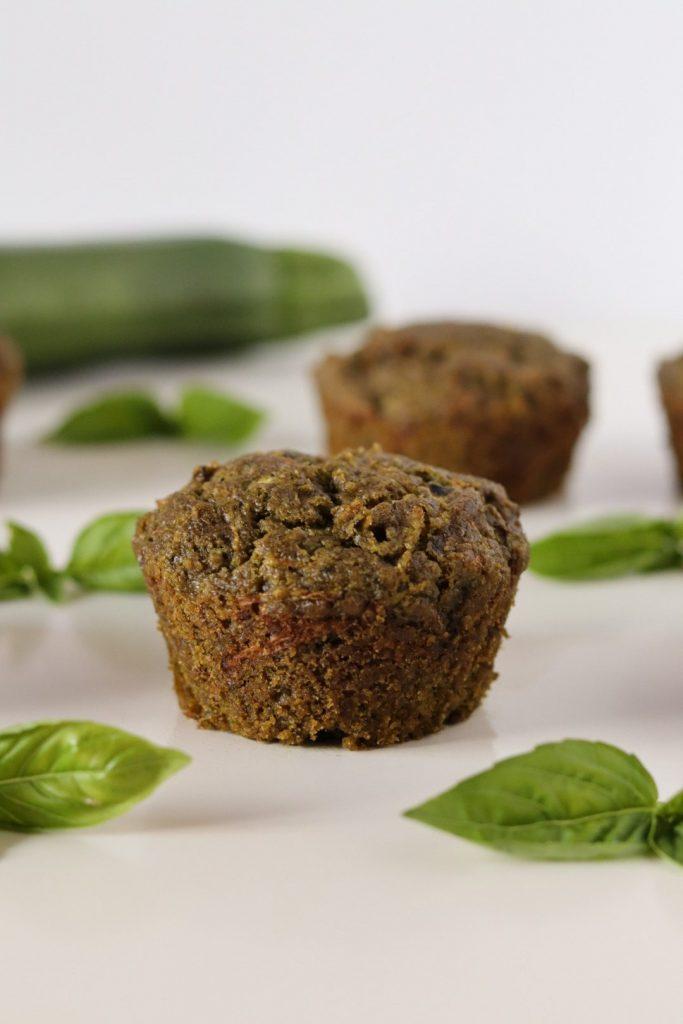 zucchini pesto muffins