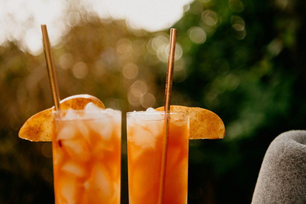 fall cocktail apple cider mule