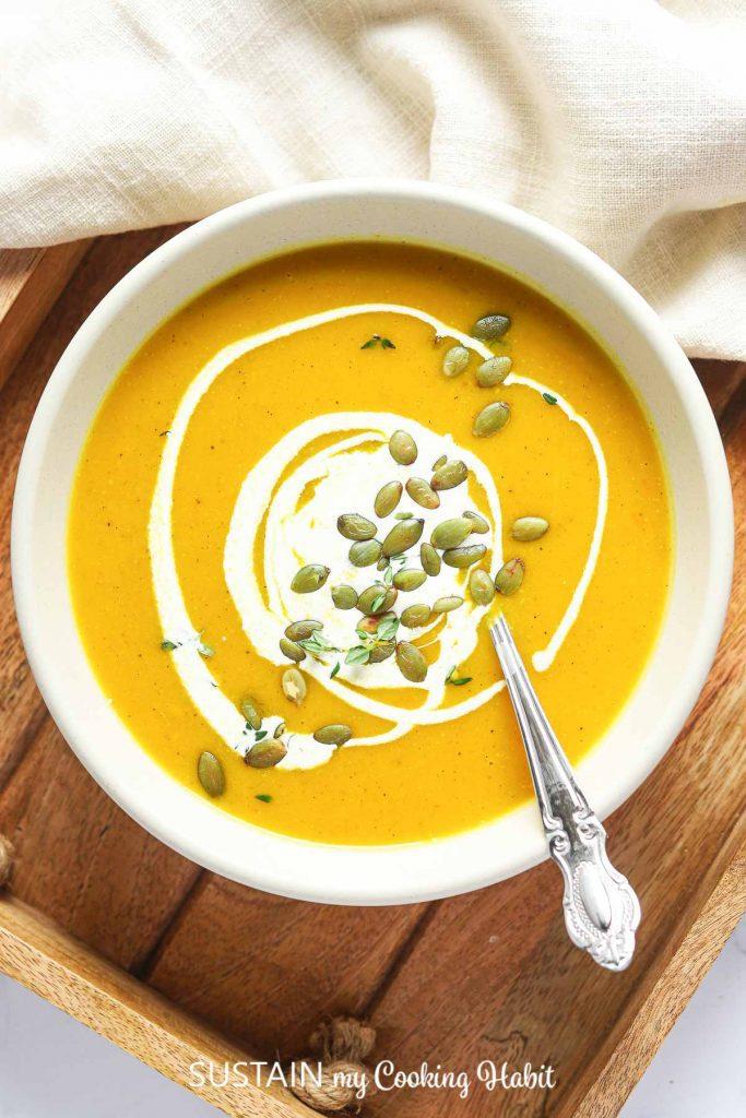 easy creamy pumpkin soup