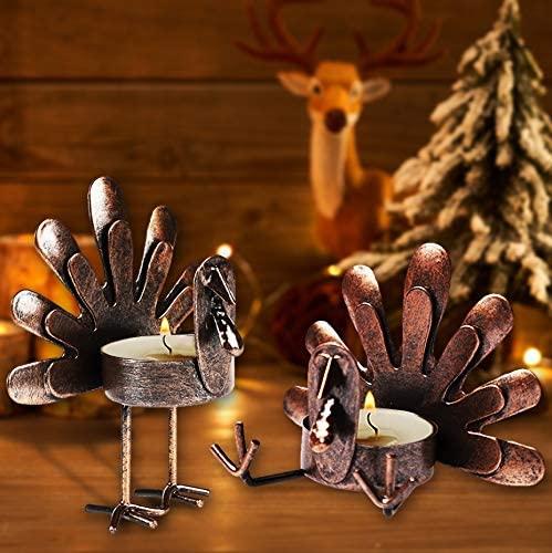 turkey tea light candles